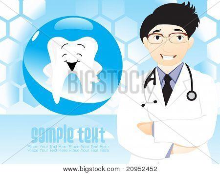 medizinischen Hintergrund Zähne und Zahnarzt