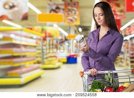 Cart shop woman consumerism discount retail sale