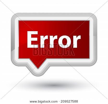 Error Prime Red Banner Button