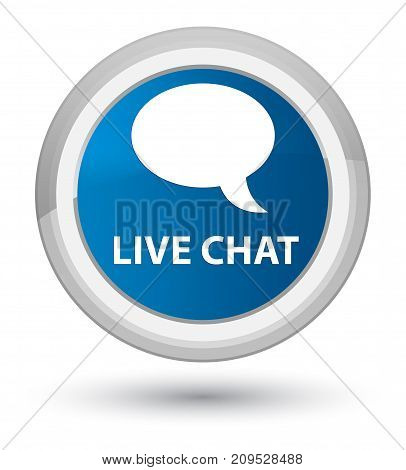 Live Chat Prime Blue Round Button