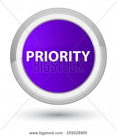 Priority Prime Purple Round Button