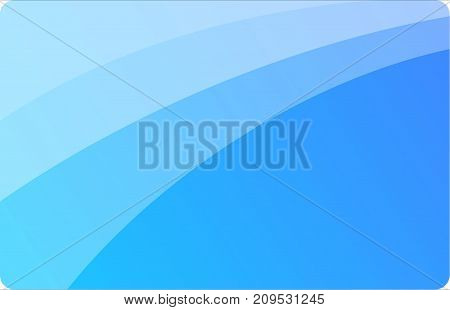 Vector of blue credit card template mock up for business payment shopping malls.