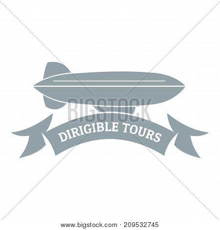 Trip dirigible logo. Simple illustration of trip dirigible vector logo for web