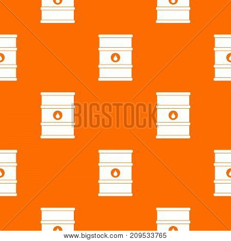 Oil barrel pattern repeat seamless in orange color for any design. Vector geometric illustration