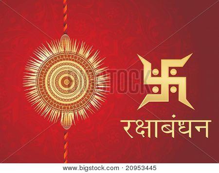 seamless pattern maroon background with rakhi, swastika