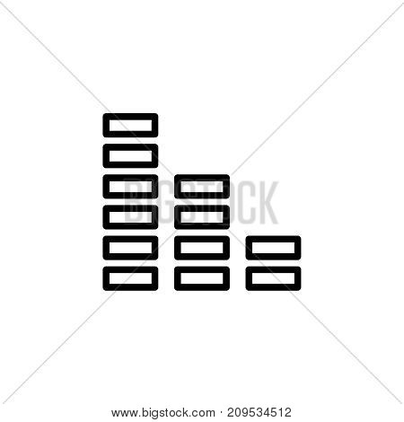 Modern reduction line icon. Premium pictogram isolated on a white background. Vector illustration. Stroke high quality symbol. Decrease icon in modern line style.