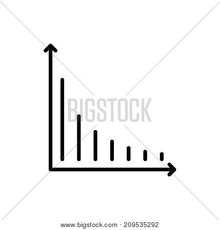 Modern reduction line icon. Premium pictogram isolated on a white background. Vector illustration. Stroke high quality symbol. Decrease icon in modern line style. poster