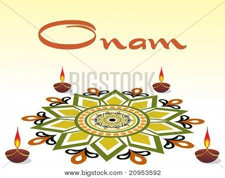 background for onam celebration, vector illustration