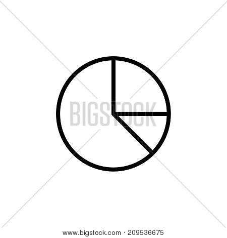 Modern pie chart line icon. Premium pictogram isolated on a white background. Vector illustration. Stroke high quality symbol. Pie chart icon in modern line style.