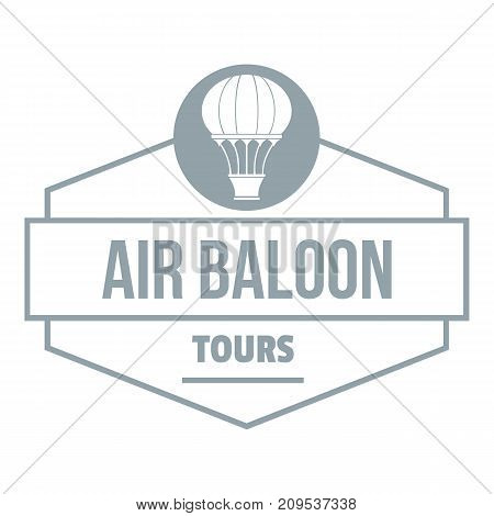 Tours air balloon logo. Simple illustration of tours air balloon vector logo for web