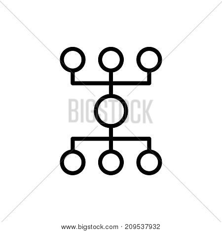 Modern hierarchy line icon. Premium pictogram isolated on a white background. Vector illustration. Stroke high quality symbol. Hierarchy icon in modern line style.