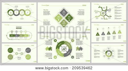 Infographic design set can be used for workflow layout, diagram, report, presentation, web design. Business and teamwork concept with process , cycle, flow, doughnut, pie, option, percentage charts.