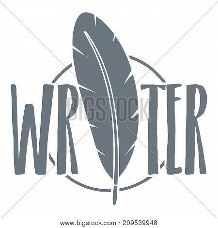 Writing pen logo. Vintage illustration of writing pen vector logo for web