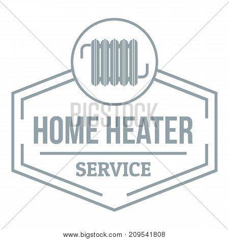 Heater logo. Simple illustration of heater vector logo for web