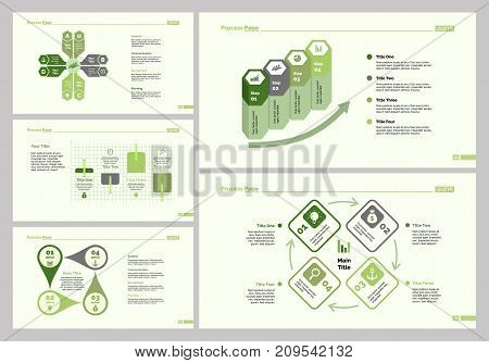 Infographic design set can be used for workflow layout, diagram, annual report, presentation, web design. Business and analysis concept with process, cycle, option, bar and percentage charts.