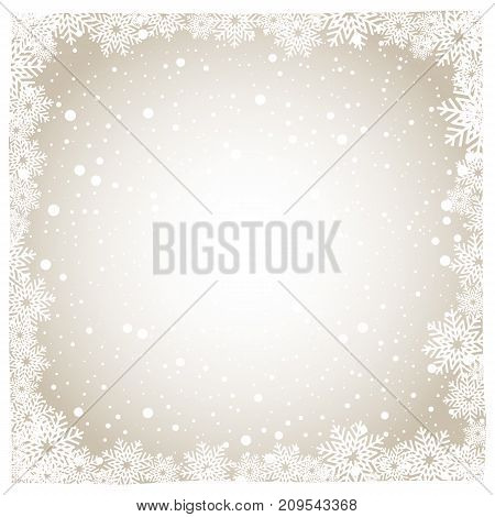 snowflake background and snow background vector illustration