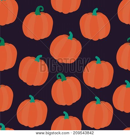 Seamless halloween backgrounds. Vector illustration. Seamless pattern of pumpkins