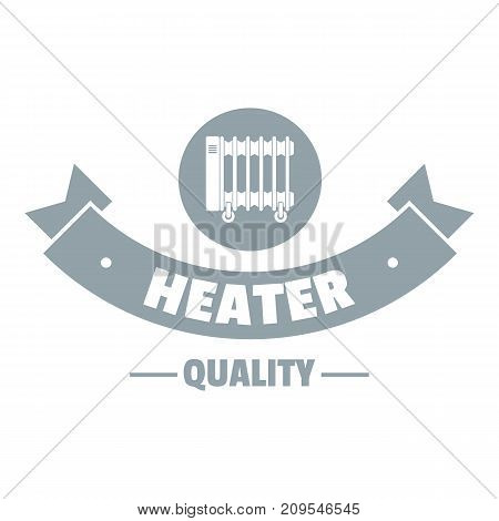 Quality heater logo. Simple illustration of quality heater vector logo for web
