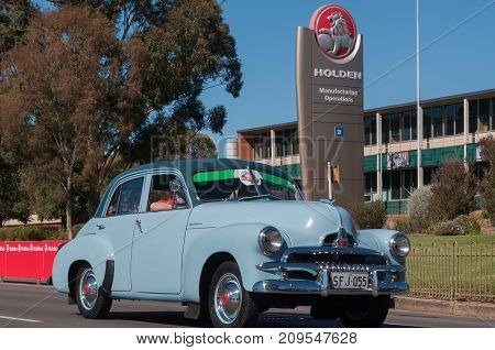 Adelaide, SA, Australia - October 15, 2017: South Australians gather in Elizabeth for the Holden Dream Cruise celebrating 70 years of car manufacturing in Adelaide. The factory will close October 20th ending car manufacturing in Australia for the moment.