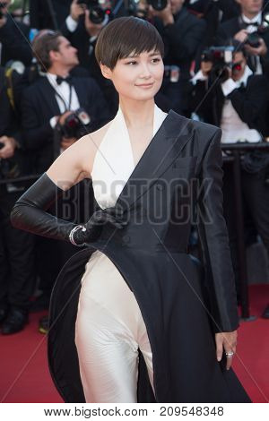 CANNES, FRANCE - MAY 22, 2015: Li Yuchun attends the 'Little Prince' ('Le Petit Prince') premiere. 68th annual Cannes Film Festival at the Palais des Festivals