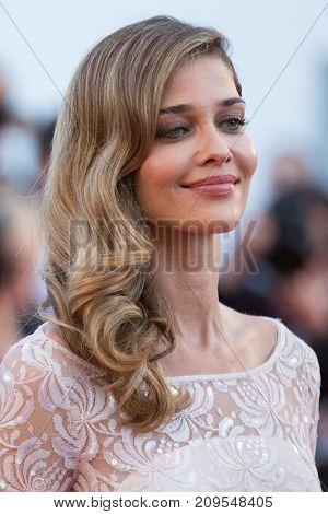 CANNES, FRANCE - MAY 21, 2015: Ana Beatriz Barros  attends the 'Inside Out' premiere. 68th annual Cannes Film Festival at the Palais des Festivals