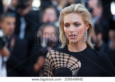 CANNES, FRANCE - MAY 20, 2015: Victoria Hervey  attends the 'Youth' premiere. 68th annual Cannes Film Festival at the Palais des Festivals