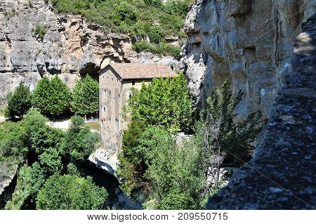 Monasterio de Sant Miquel de Fai en Cataluña