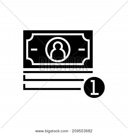 banknotes cent icon, illustration, vector sign on isolated background