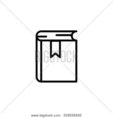 Book flat icon. Single high quality outline symbol of graduation for web design or mobile app. Thin line signs of education for design logo, visit card, etc. Outline logo of school