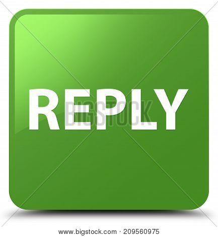 Reply Soft Green Square Button