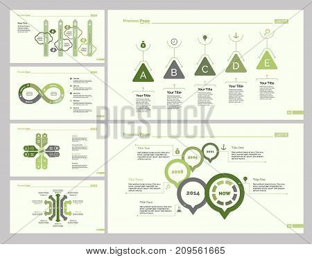 Infographic design set can be used for workflow layout, diagram, report, presentation, web design. Business and management concept with process, bar, cycle, option, timing and percentage charts.