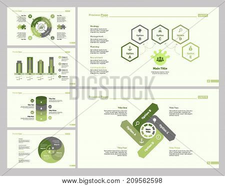 Infographic design set can be used for workflow layout, diagram, annual report, presentation, web design. Business and marketing concept with process, bar, timing, area, flow and percentage charts.