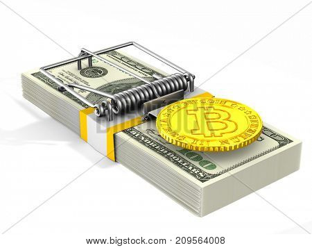 Financial risk. Isolated 3D illustration