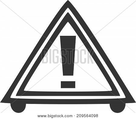 Road Hazard Triangle - Caution Warning Sign. Parking Construction Caution Reflective Street Notice. Exclamation Precaution Symbol Alert for Traffic Drivers and Passerby. Accident Safety. Transportation Danger Prevention. Drive Beware Hazardous Information