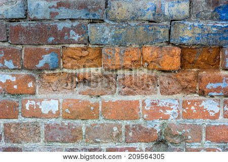 Brick wall texture red and brown colored as background.