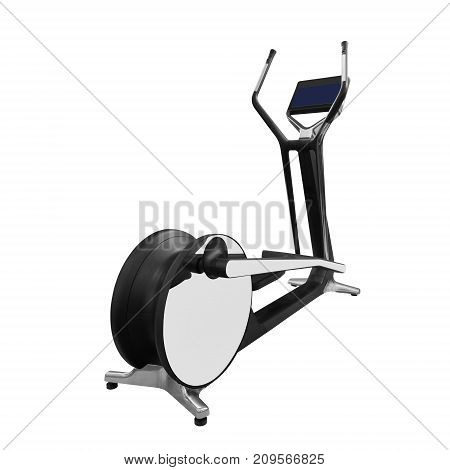 Luxury elliptical cross trainer isolated on white background