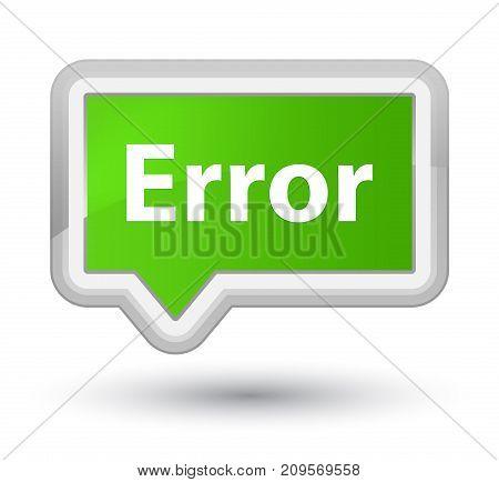 Error Prime Soft Green Banner Button