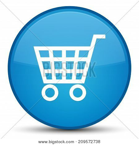 Ecommerce Icon Special Cyan Blue Round Button