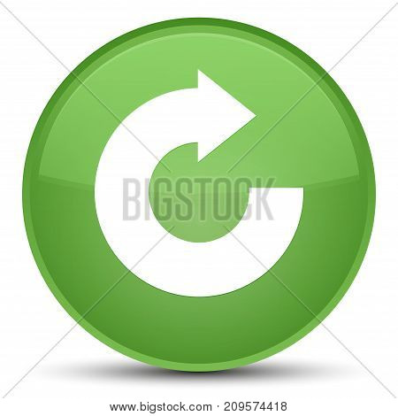 Reply Arrow Icon Special Soft Green Round Button
