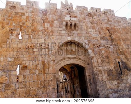Traveling to Israel Jerusalem Lions' Gate visiting old city