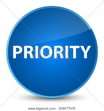 Priority Elegant Blue Round Button