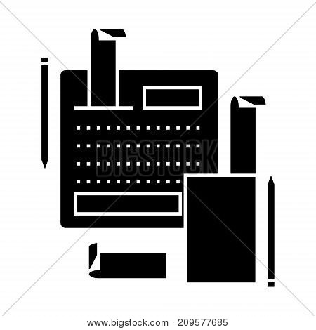 accounting system  icon, vector illustration, black sign on isolated background