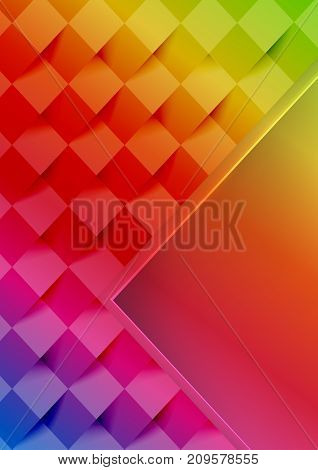 Colorful background with geometric shapes. Vector illustration.