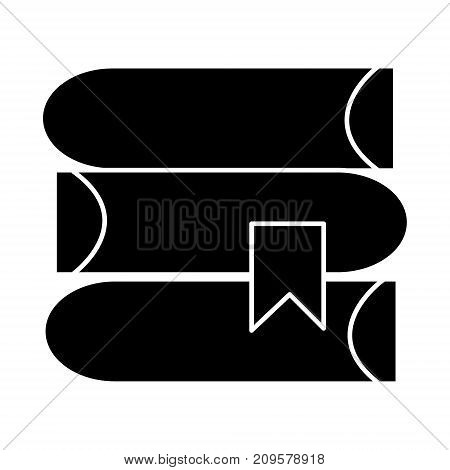 books  icon, vector illustration, black sign on isolated background