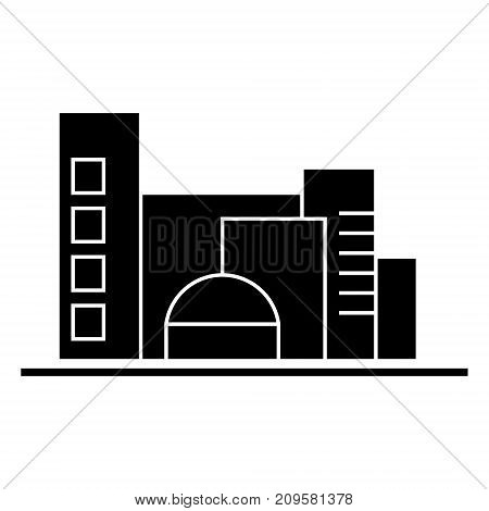 city, traffic cars  icon, vector illustration, black sign on isolated background