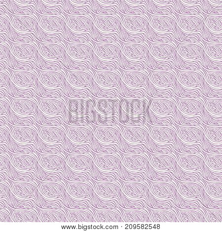 Vector Seamless Pattern - Linear Wave Background.