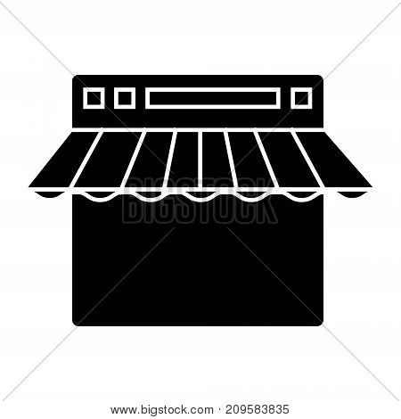 e commerce, internet shop  icon, vector illustration, black sign on isolated background