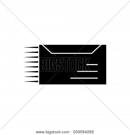 email delivery, mail marketing  icon, vector illustration, black sign on isolated background