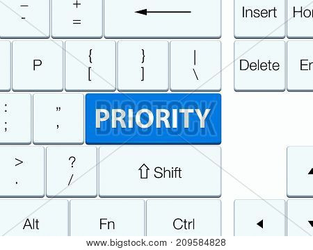 Priority Blue Keyboard Button