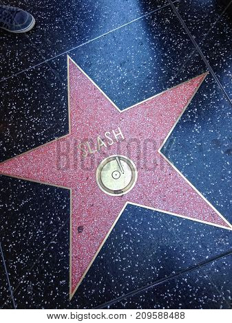 Slash Hollywood Walk Of Fame Star.